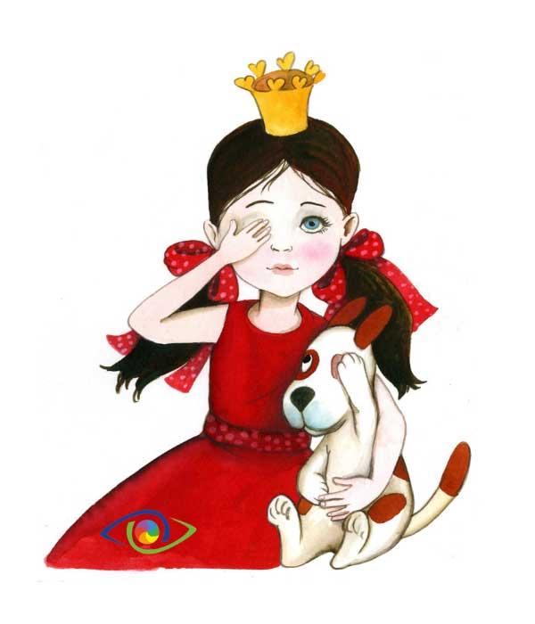 Occhio pigro principessa
